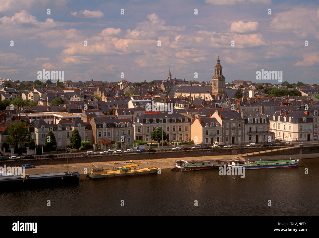 maine river city of angers pays de la loire france europe stock photo royalty free image. Black Bedroom Furniture Sets. Home Design Ideas