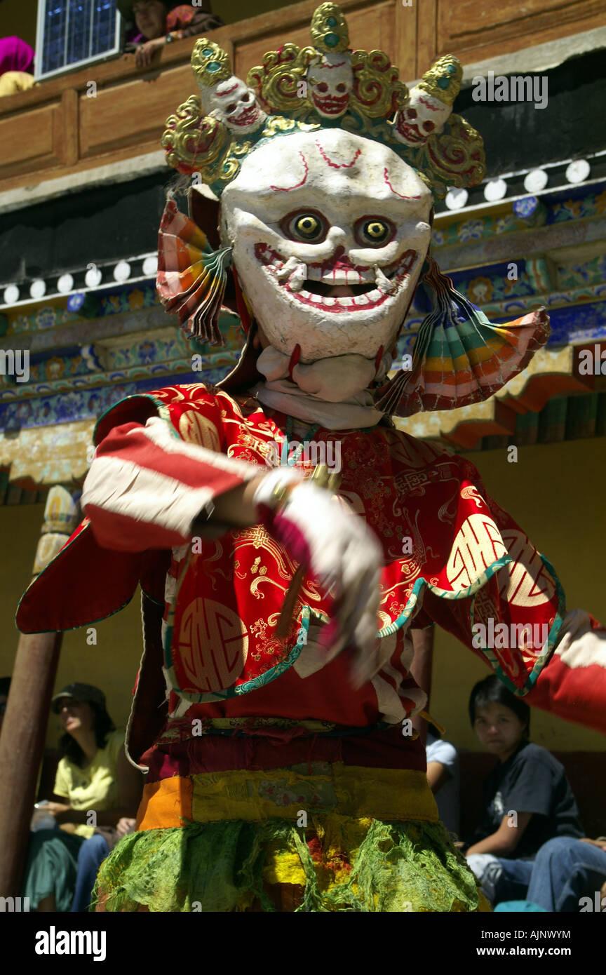 Skull skeleton wrathful ghost mask at tibetan buddhist traditional ...
