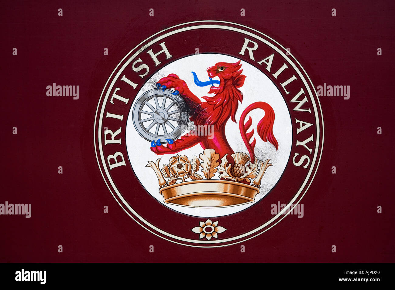 British railways coat of arms on a carriage on the llangollen british railways coat of arms on a carriage on the llangollen railway denbighshire north wales buycottarizona