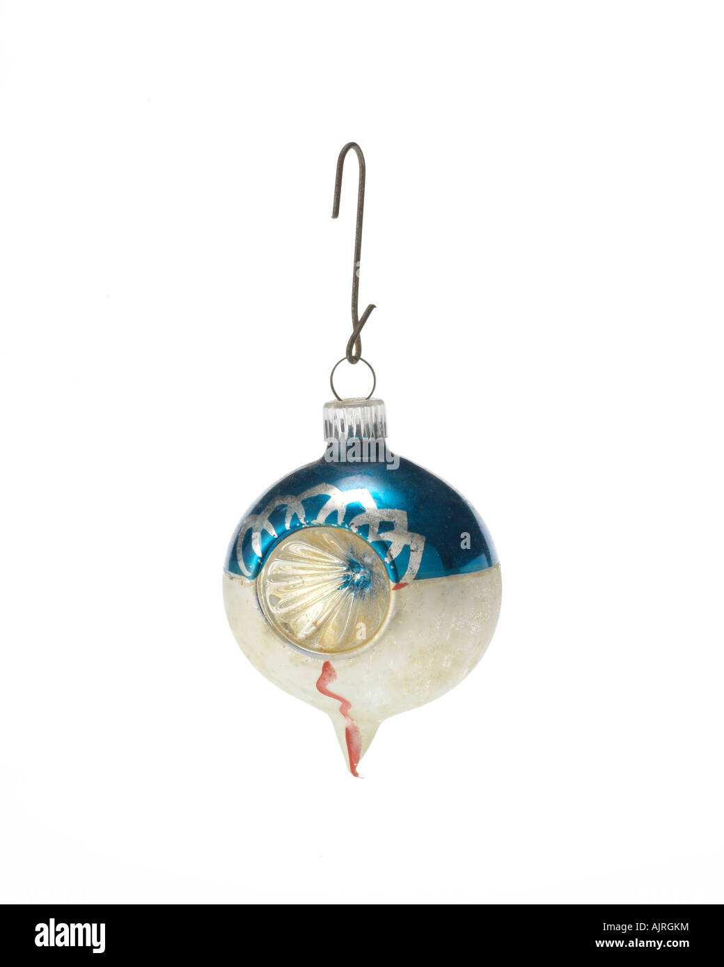 Stock Photo  Vintage Christmas Ornament Hanging On Hook