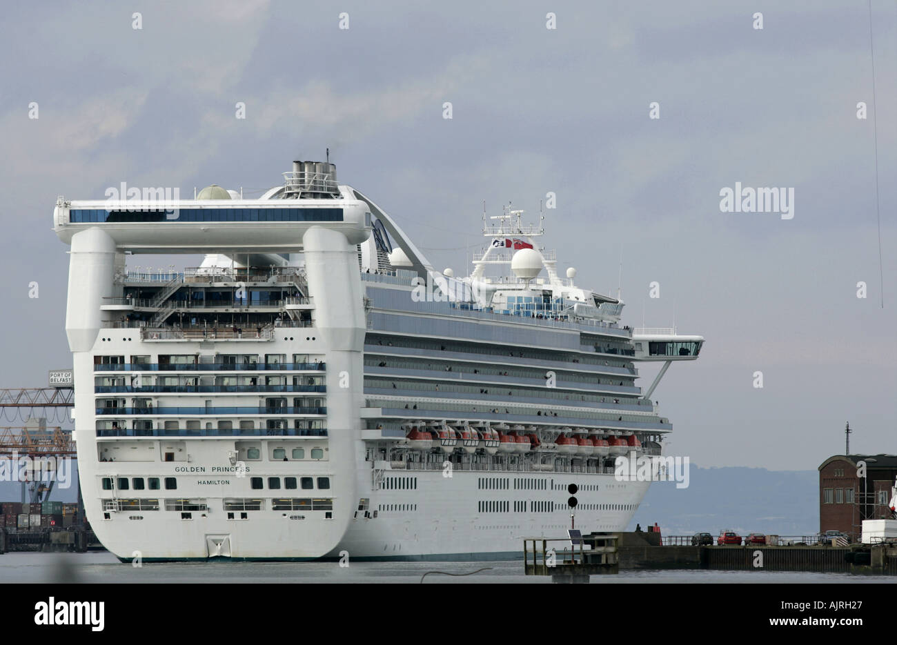 Golden Princess Cruise Ship Victoria Channel Belfast Harbour - Cruise ship ireland