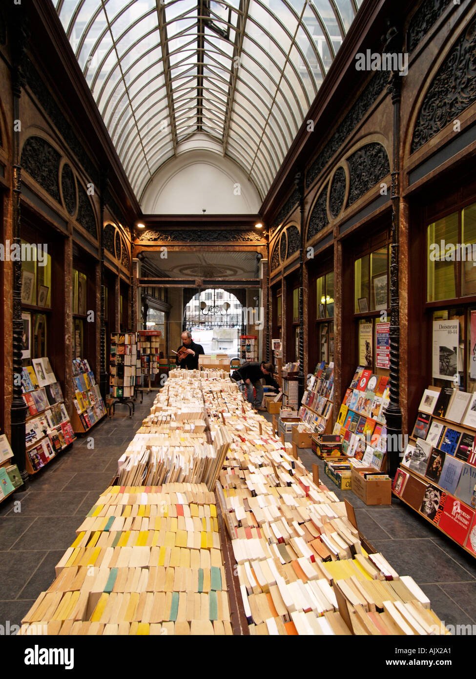 Art deco bookstalls and antique bookshop arcade in brussels belgium stock pho - Deco vintage belgique ...