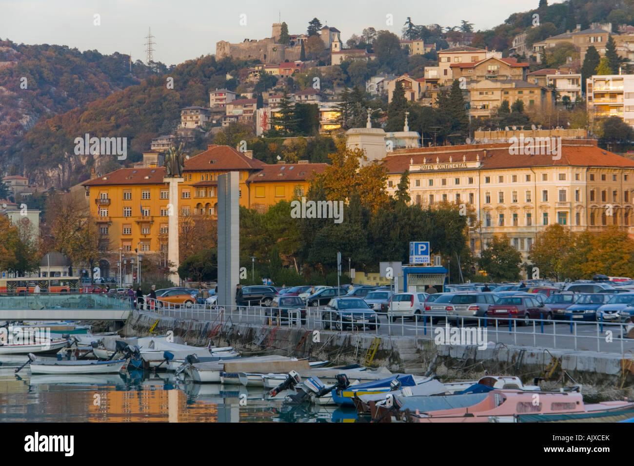 Art color rijeka - Rijeka In Croatia Mrtvi Kanal And Trsat Castle On Hill In Background