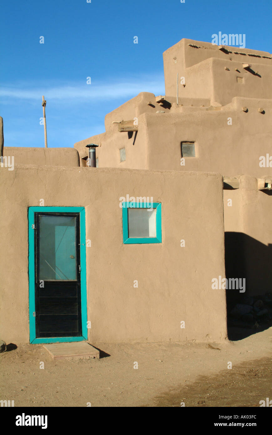 Part Of North House Taos Pueblo New Mexico United States America - Is new mexico part of the united states