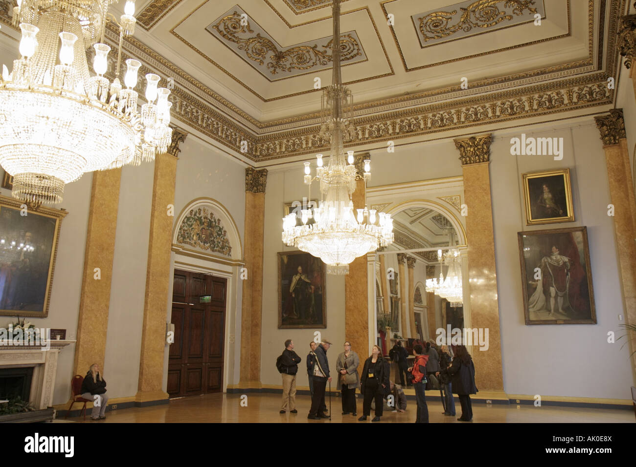 England uk liverpool high street town hall 1802 ballroom england uk liverpool high street town hall 1802 ballroom chandelier tour group mozeypictures Gallery