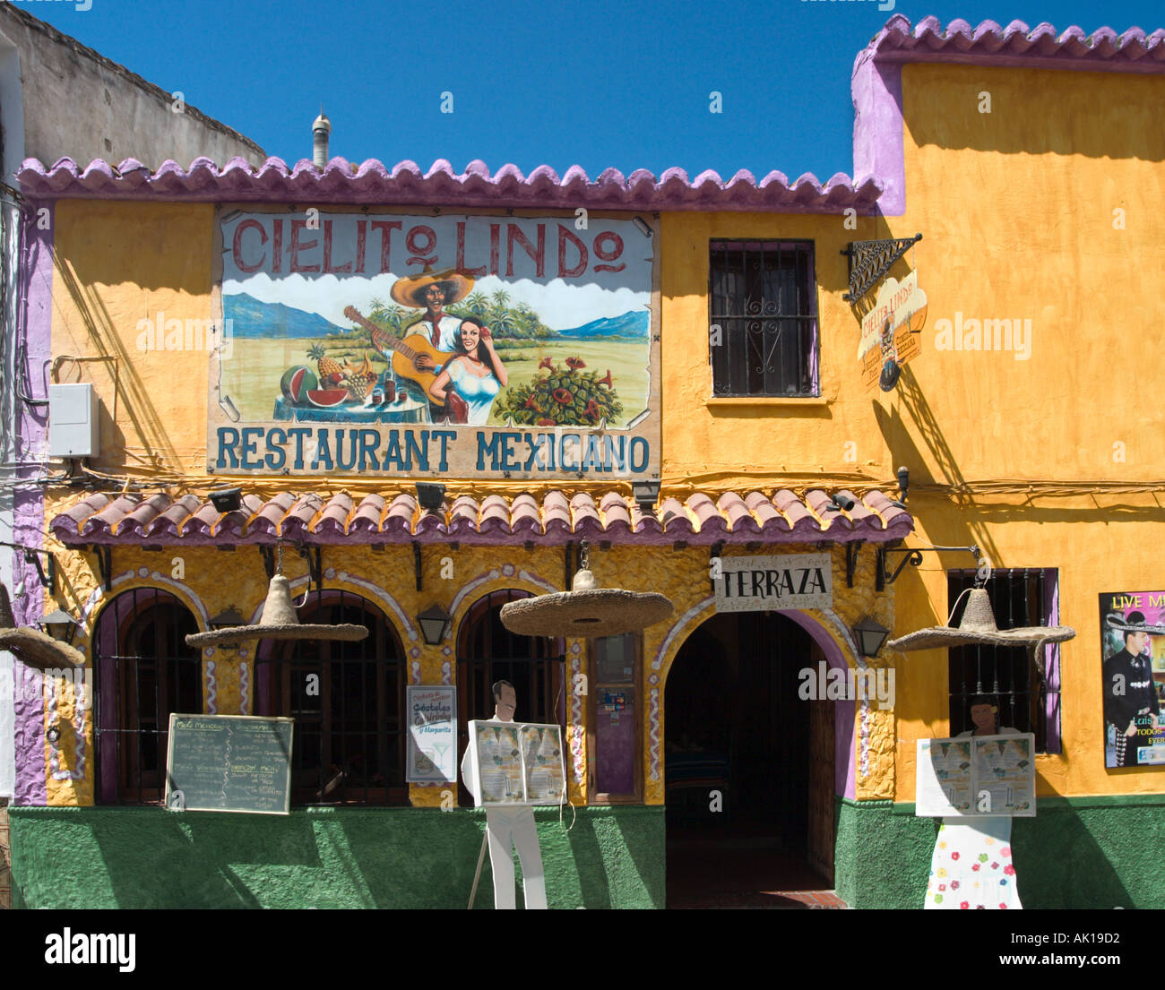 Mexican Restaurant In The Old Town Nerja Costa Del Sol