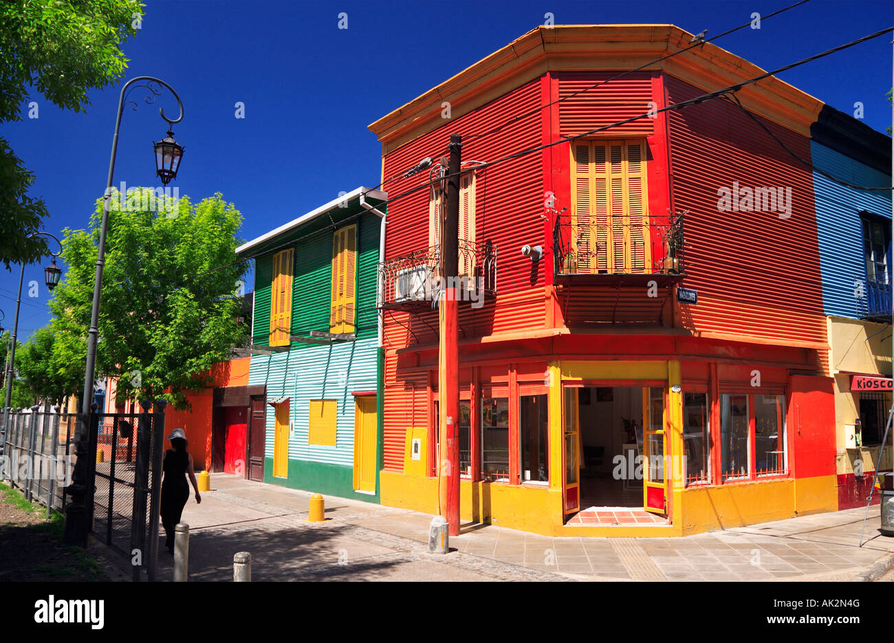 Colorful Houses At La Boca Neighborhood Corner La Boca