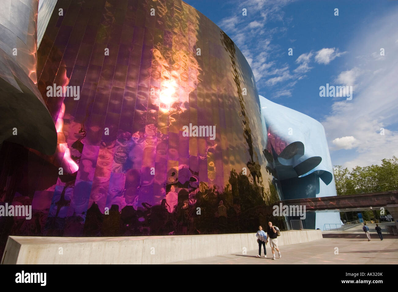 Partial Exterior View Of The Experience Music Project Science Fiction Museum  And Hall Of Fame