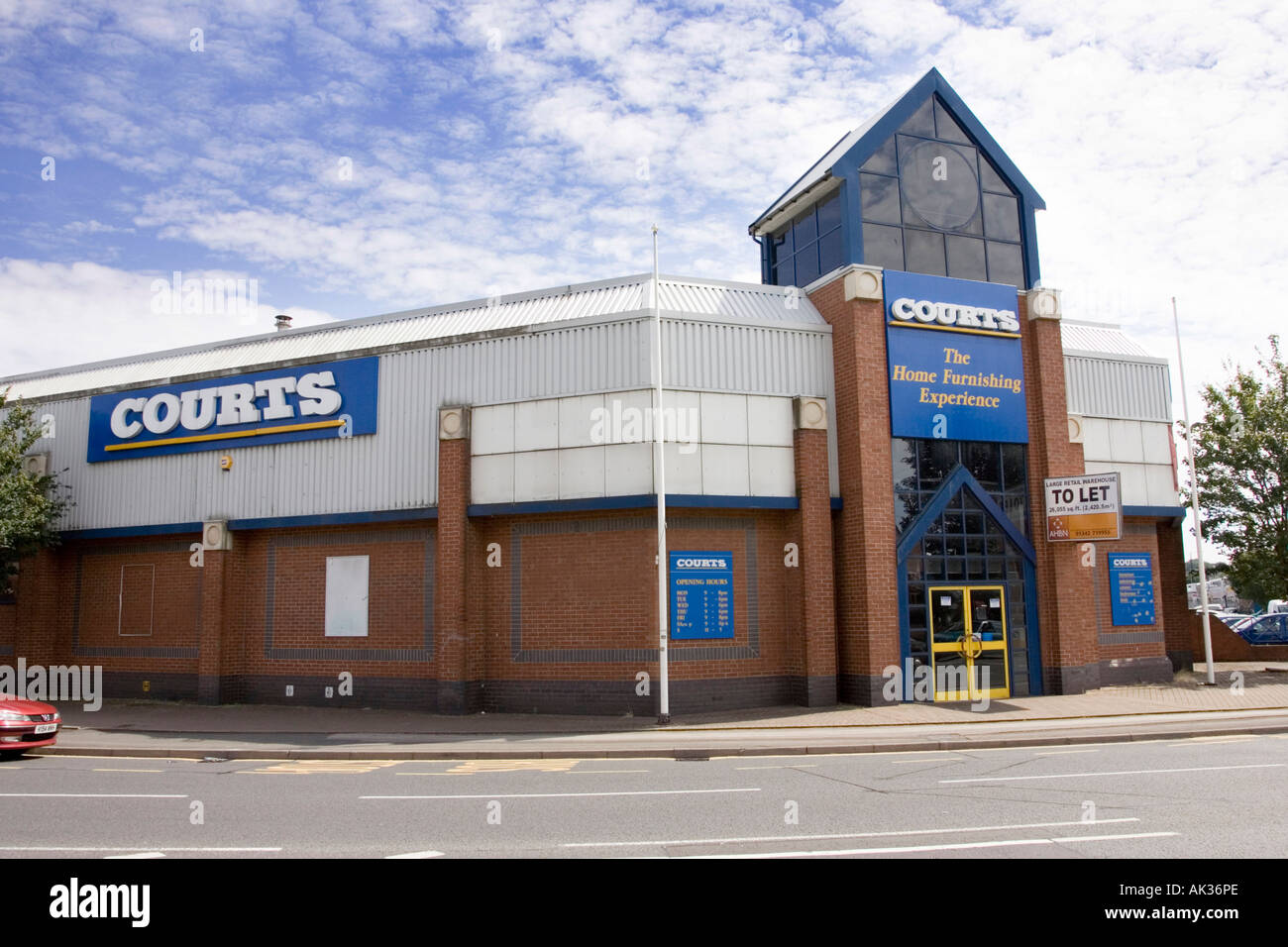 Courts Furniture Store In Worcester Uk Stock Photo Royalty Free