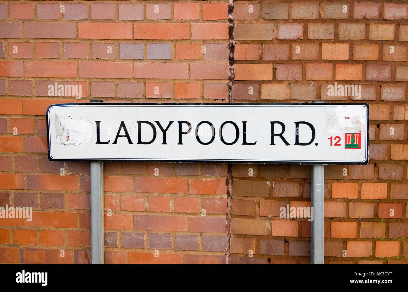 ladypool road sign in birmingham home of the curry mile in. Black Bedroom Furniture Sets. Home Design Ideas