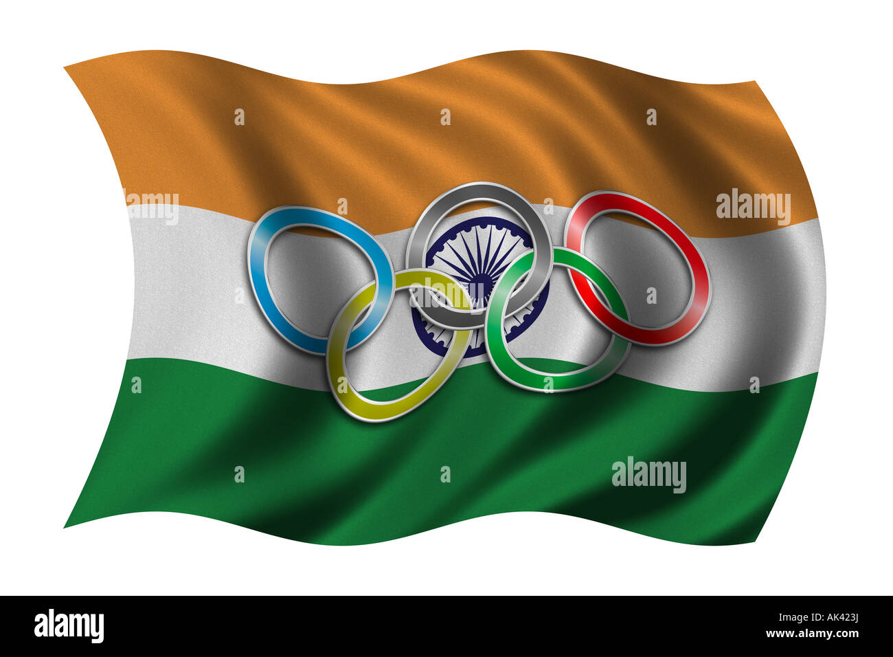 Flag of India with olympic symbol Stock Photo, Royalty Free Image ...