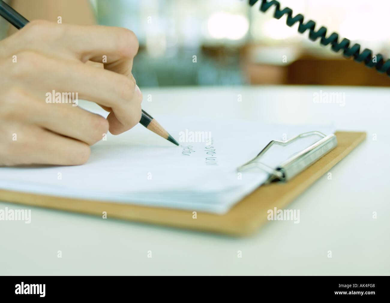 phone writing
