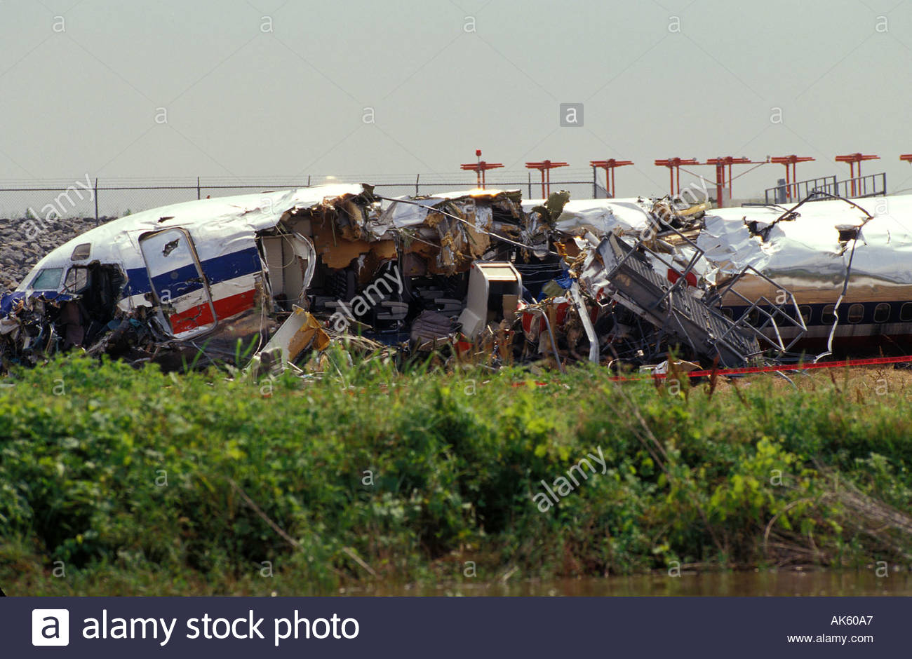 american airlines plane crash at the little rock arkansas