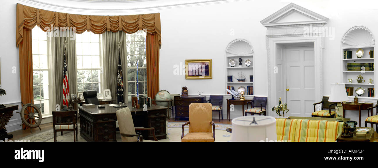 the oval office at the white house in washington dc stock