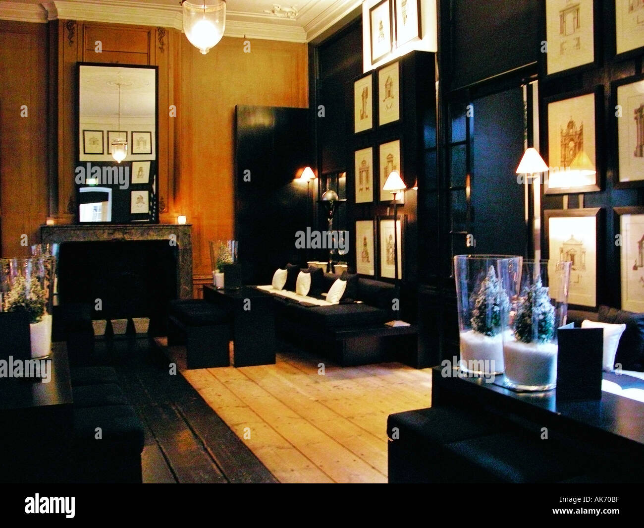 Bar lounge at Blakes hotel Amsterdam Holland Part of Small luxury