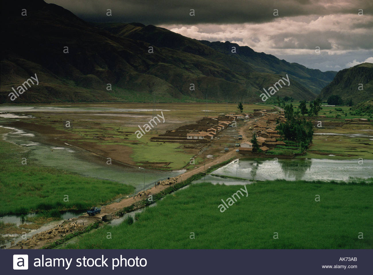 Mountain living near cusco peru royalty free stock photo - Peru Andes Cusco Province A Valley In The Sierra During The Rainy Season