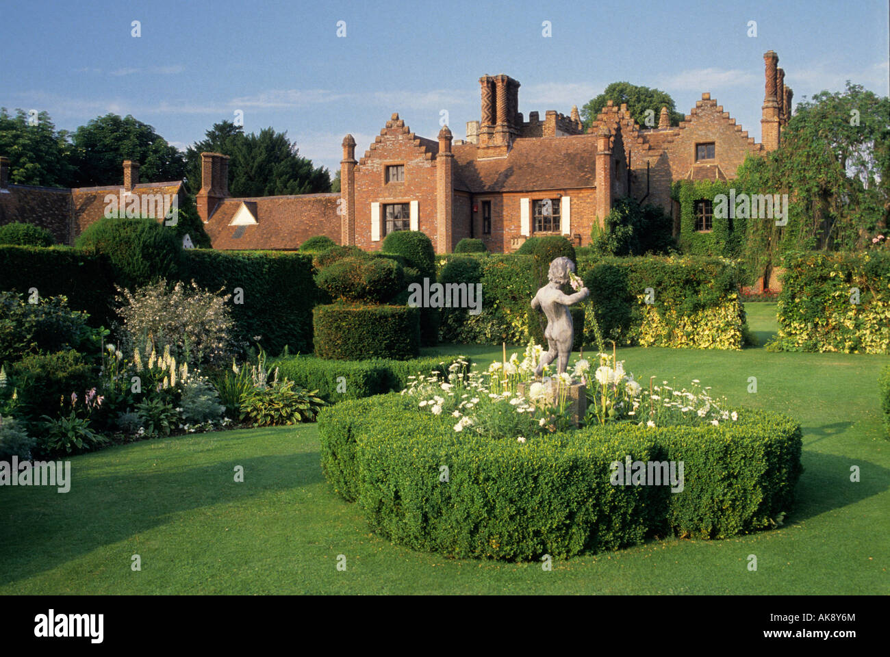 chenies manor buckinghamshire the white garden dahlias yew hedges