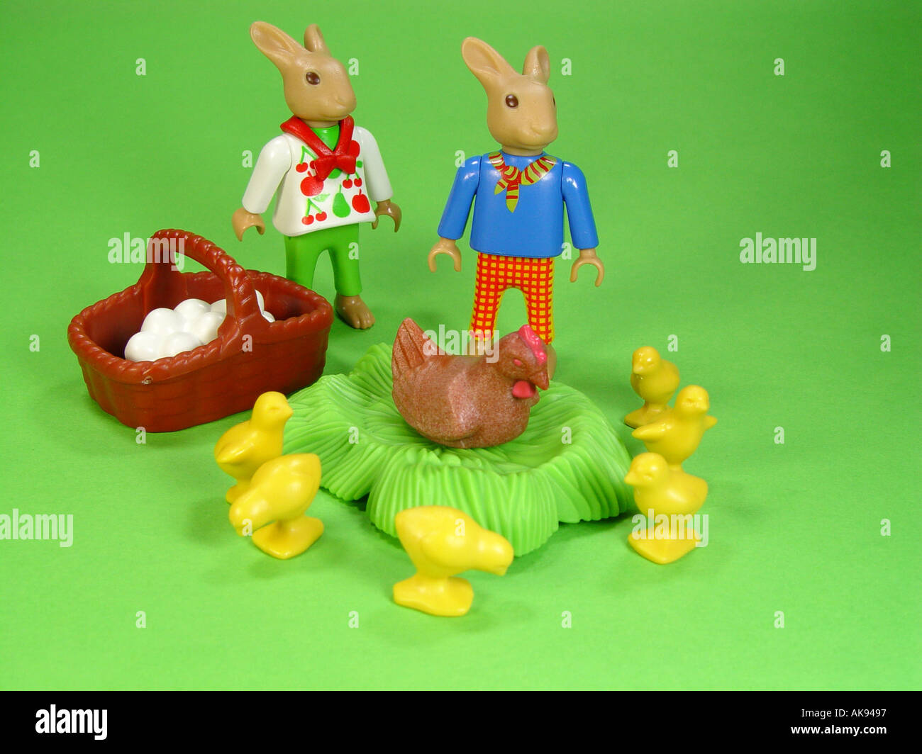 Easter Bunny As Symbol For The Tradition To Easter Stock Photo ...