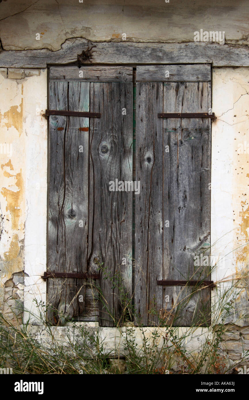 Old wooden window shutters Greece Stock Photo Royalty Free Image