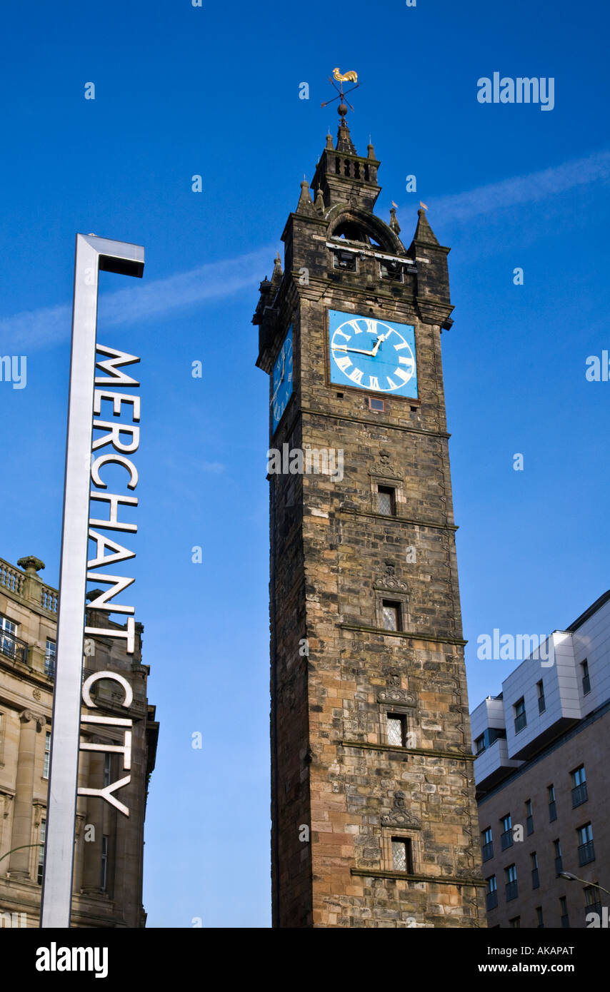 The Tolbooth clock tower Trongate Merchant City Glasgow ...