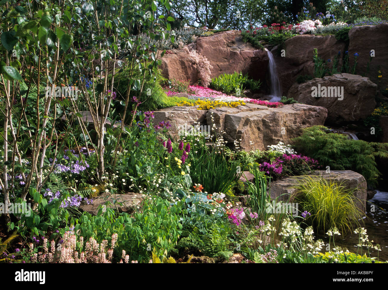 Wonderful Chelsea FS 2000 Design Mercer Upward Alpine Garden With Shade Loving  Woodland Plants And Sun Loving Rock Plants Water Fall