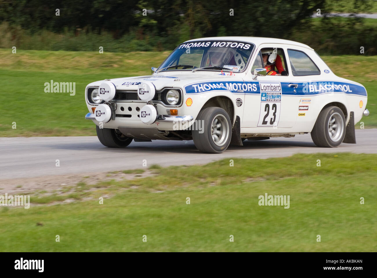 Ford Escort Mk1 Rally Car at Oulton Park Motor Racing Circuit near ...