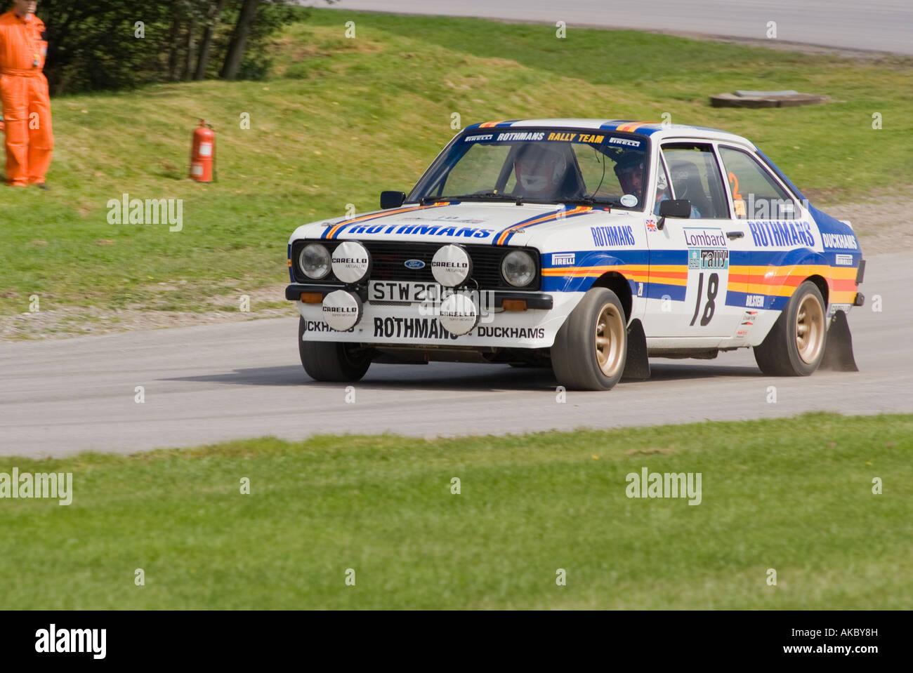 Ford Escort Mk2 Rally Car at Oulton Park Motor Racing Circuit near ...