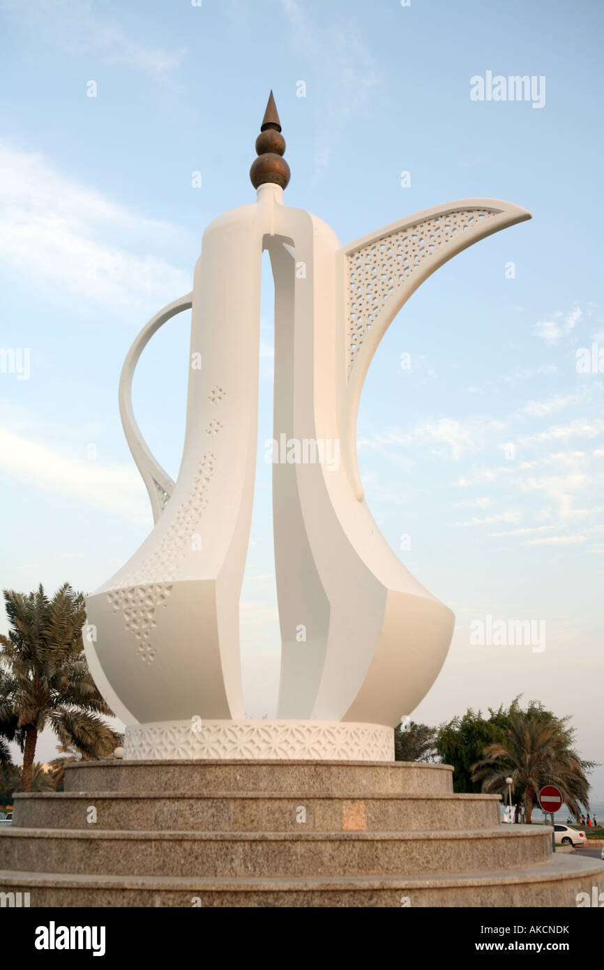The dallah coffee pot monument on the corniche in doha qatar a the dallah coffee pot monument on the corniche in doha qatar a dallah is a symbol of welcome and hospitality in arabia biocorpaavc Gallery