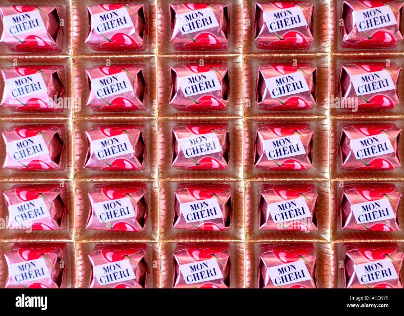 mon cheri french famous chocolate Stock Photo, Royalty Free Image ...