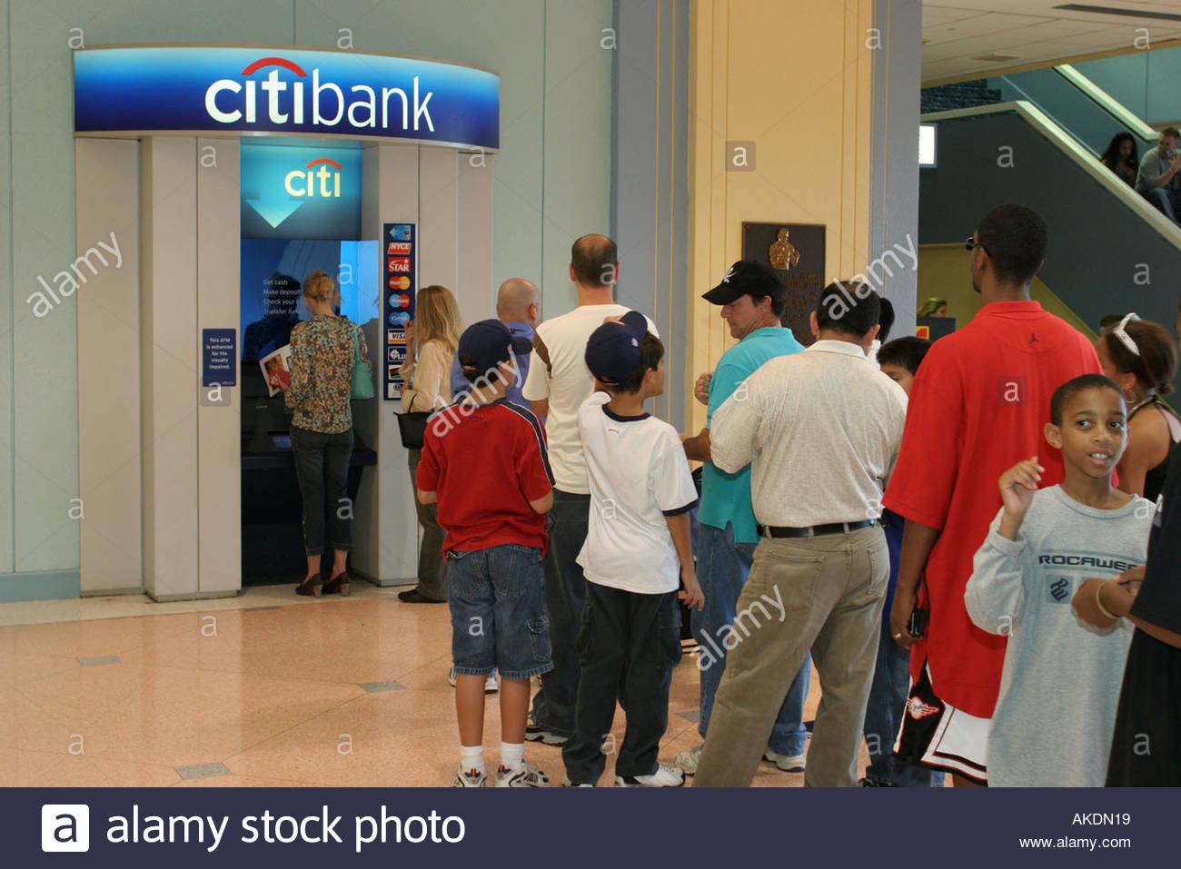 Home Design And Remodeling Show Part - 42: Miami Beach Florida Convention Center Home Design And Remodeling Show  Citibank ATM Line Money