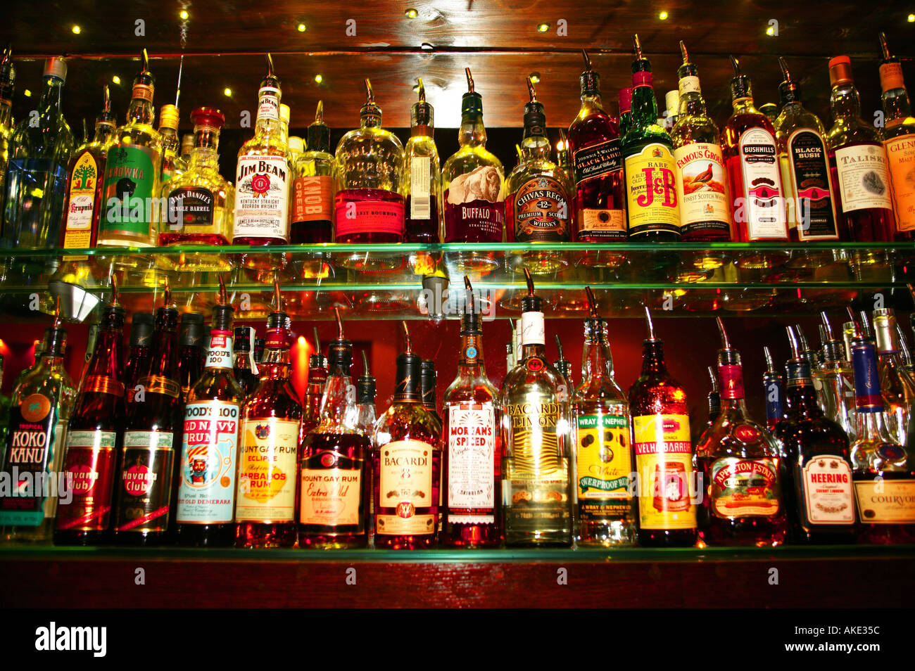 Back Bar Bottles Stock Photo Royalty Free Image 1303387
