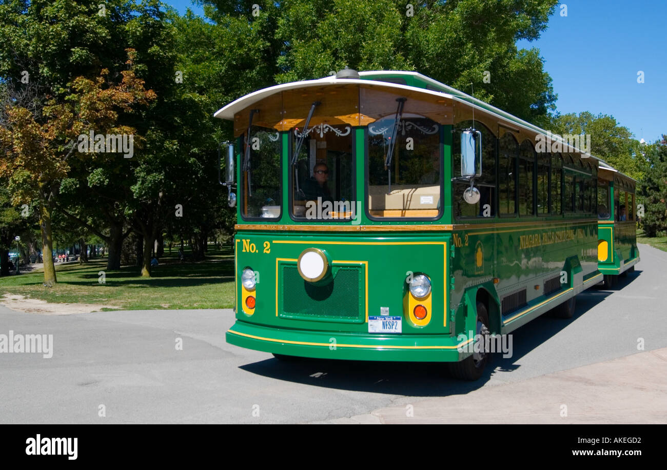 trolley bus niagara falls ny usa stock photo royalty free image 4888785 alamy. Black Bedroom Furniture Sets. Home Design Ideas