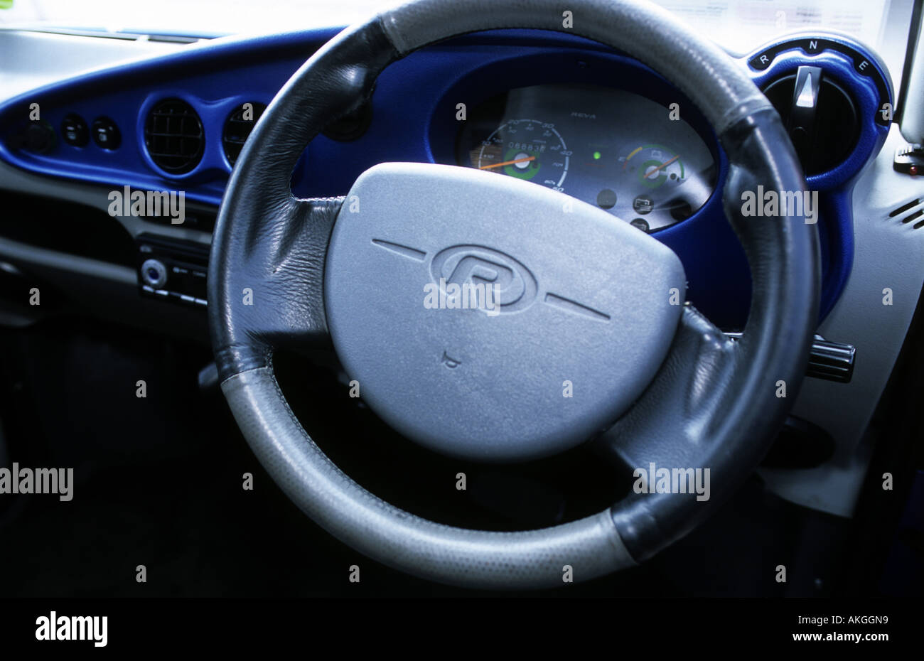 Dashboard Of A Reva G Wiz Electric Car Stock Photo Royalty Free