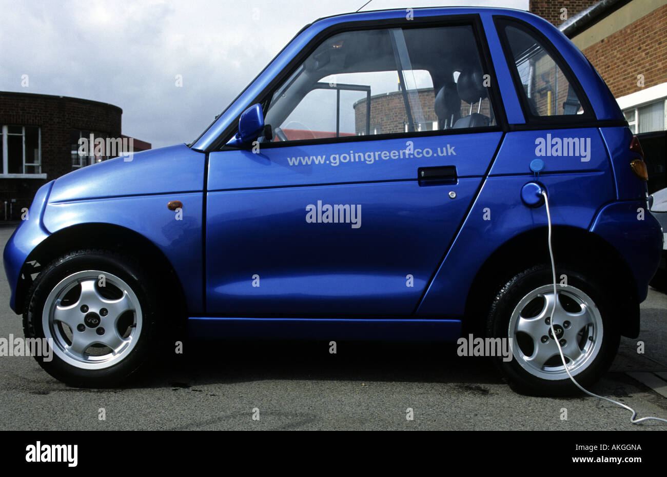 Reva G Wiz Electric Car Being Charged Stock Photo Royalty Free