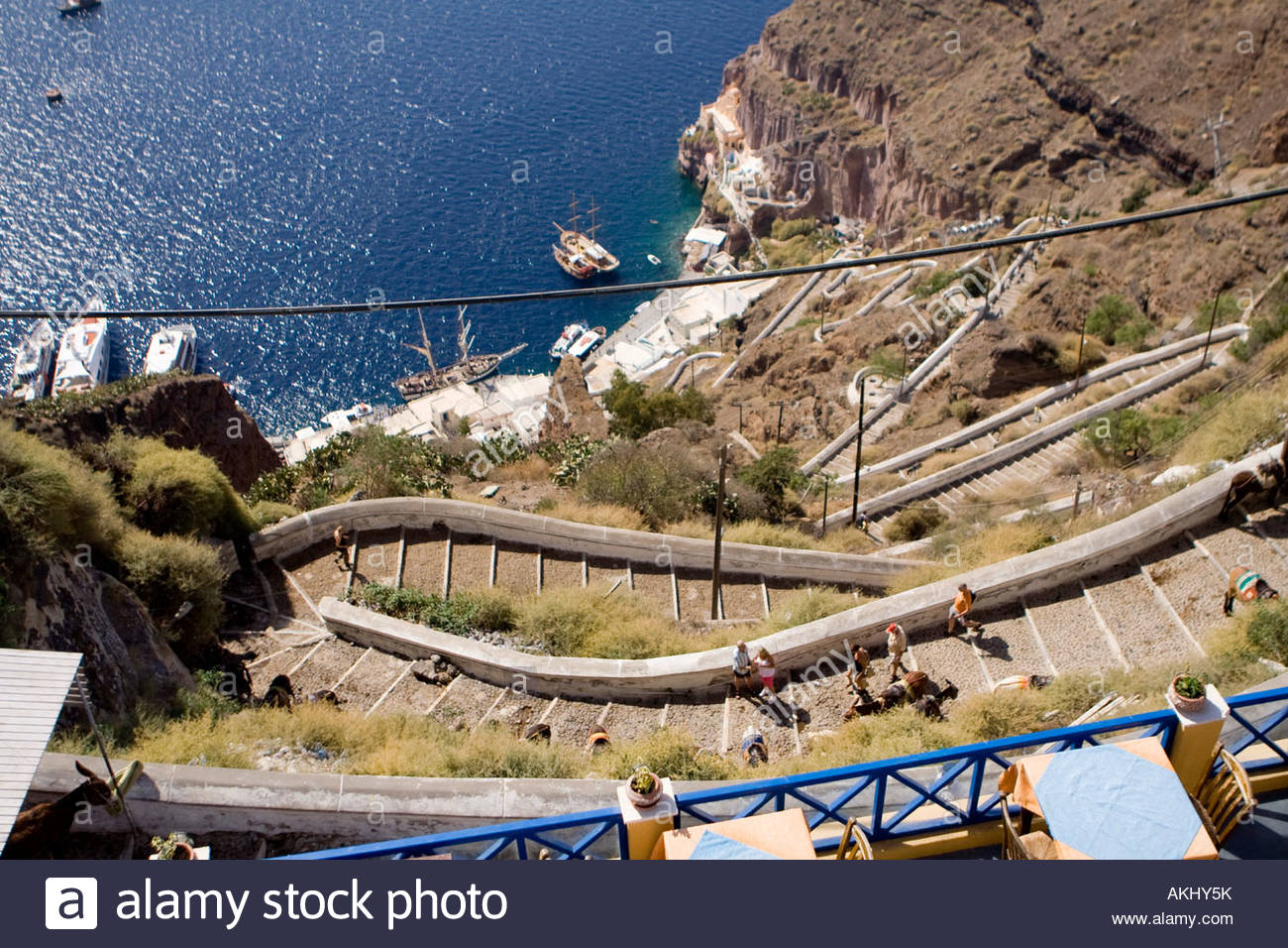 how to get from santotini port to fira