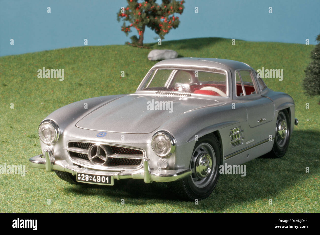 oldtimer car model mercedes 300 sl 1954 stock photo. Black Bedroom Furniture Sets. Home Design Ideas
