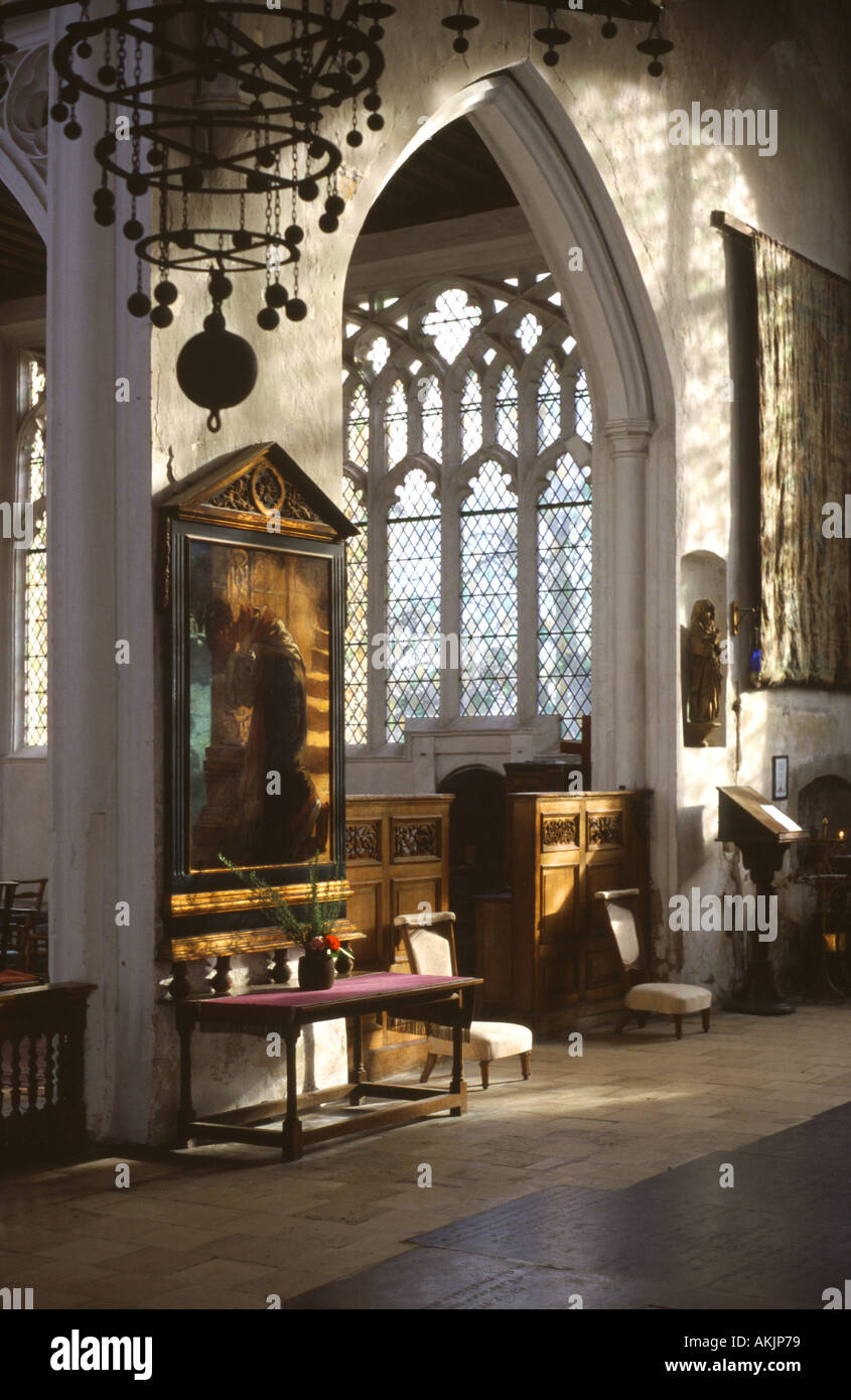 The Interior Of South Transept Thaxted Church Essex England UK