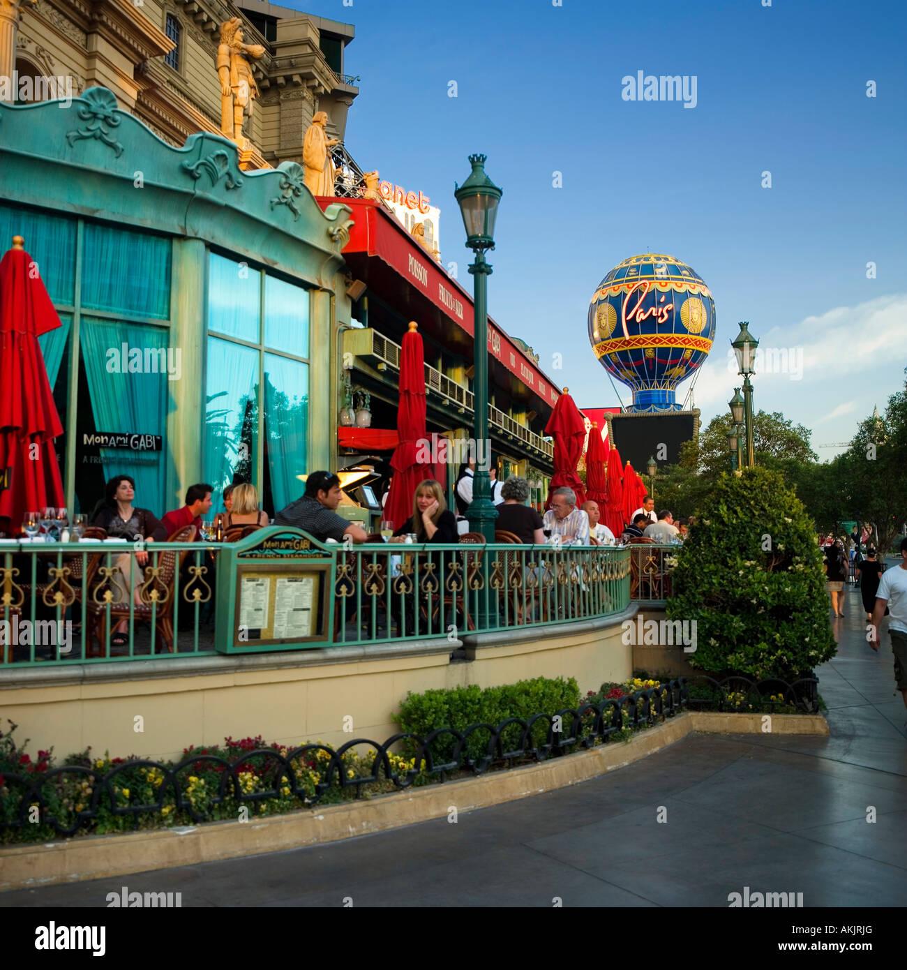 hot air balloon Paris Hotel skyline Las Vegas Stock Photo, Royalty ...