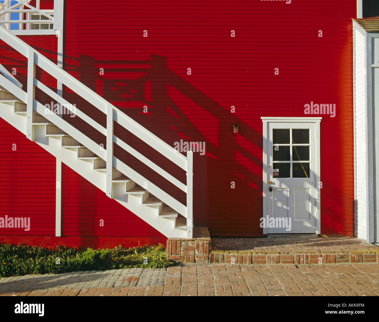 Red Painted House Marina Del Rey Los Angeles California United States