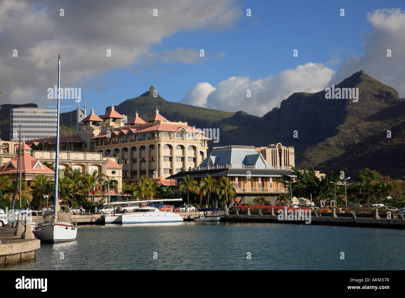 Mauritius port louis le caudan waterfront harbour stock photo royalty free image 15028810 alamy - Restaurants in port louis mauritius ...