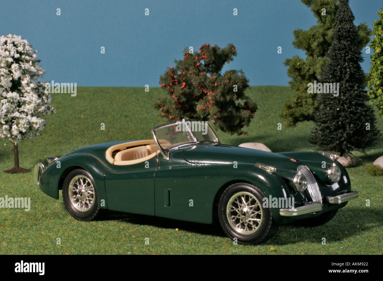 oldtimer car model jaguar xk 120 1948 stock photo royalty. Black Bedroom Furniture Sets. Home Design Ideas