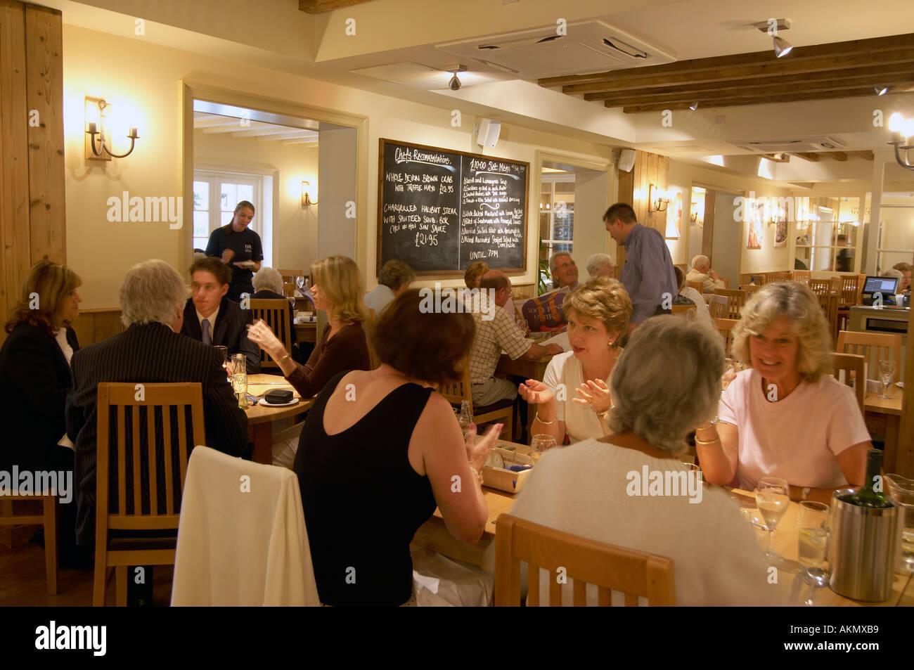 Busy Restaurant Loch Fyne Fish Poole Dorset UK An