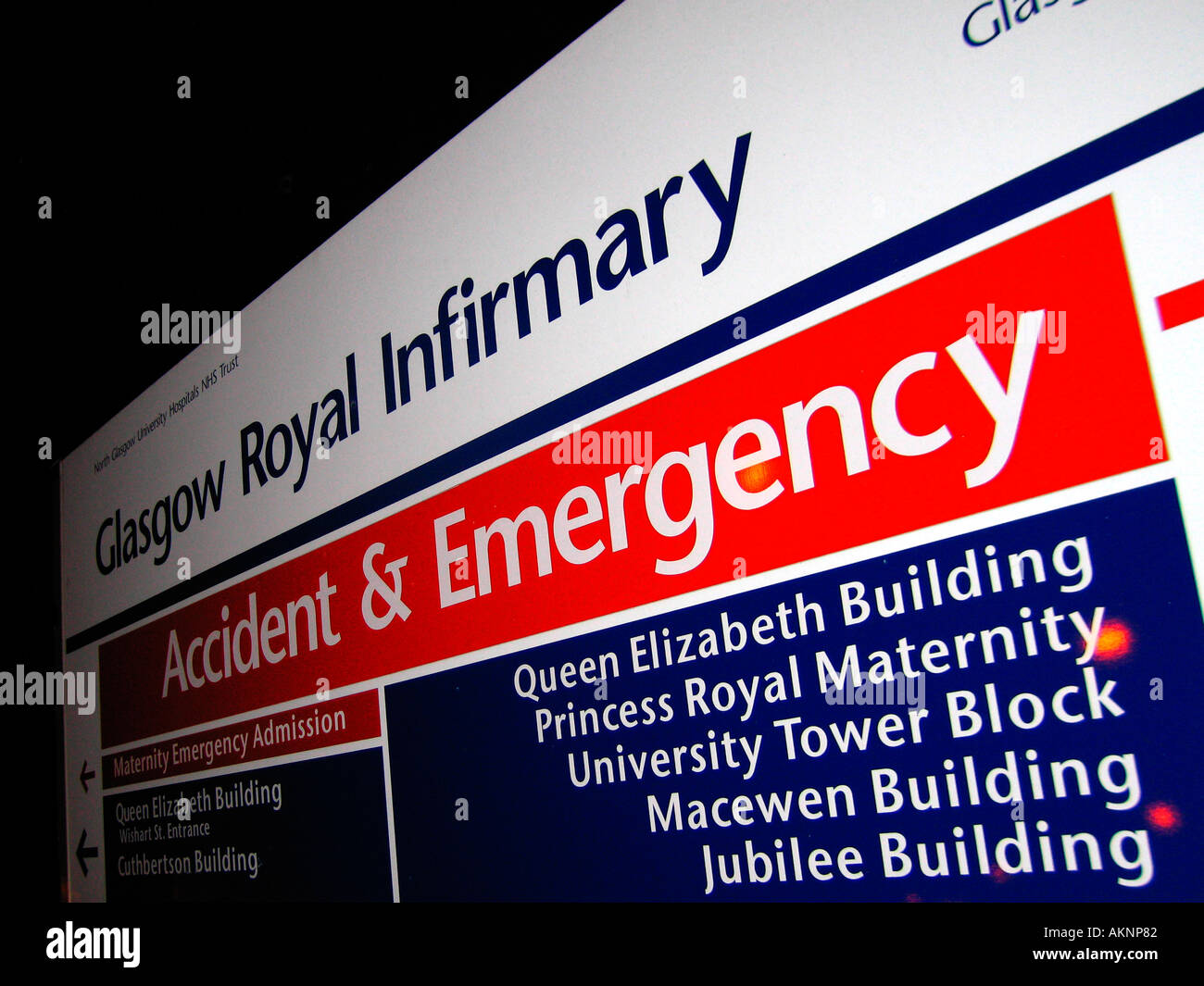 Accident and emergency department sign glasgow royal infirmary nhs accident and emergency department sign glasgow royal infirmary nhs hospital sciox Image collections