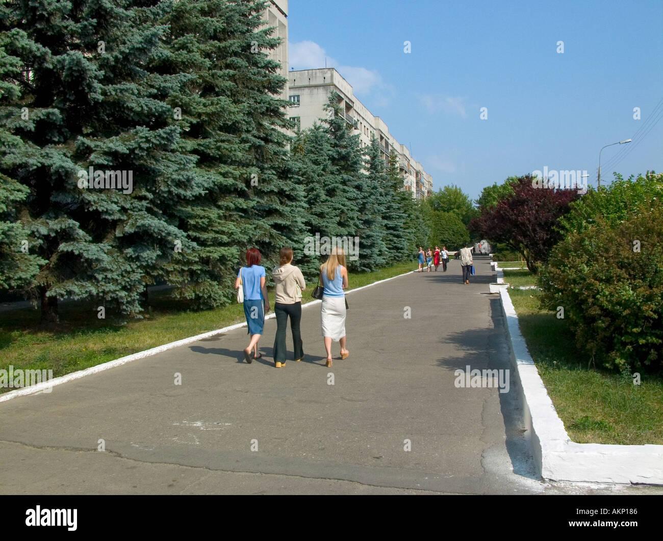 people walking to work aound am on sovetskaya street in gomel people walking to work aound 9 am on sovetskaya street in gomel