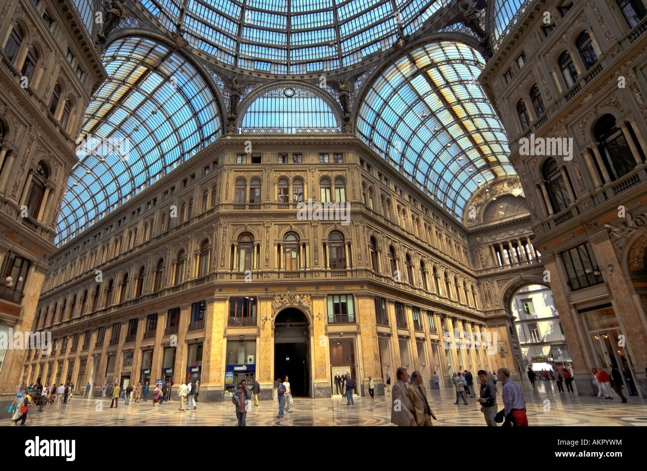Ribbed Steel And Glass Roof Of Galleria Umberto I Via