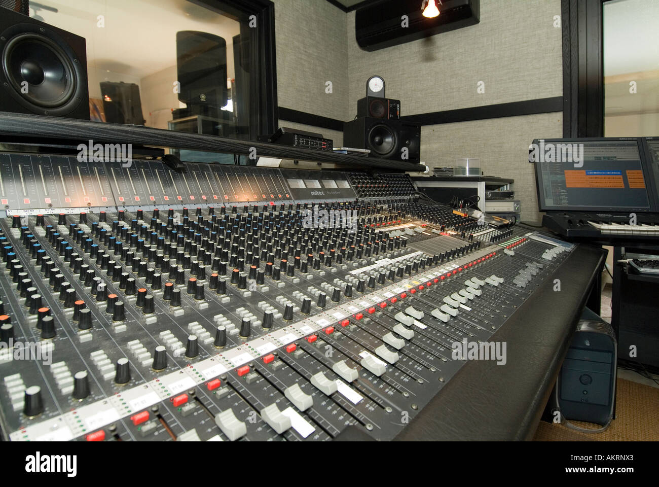 working in recording studio mixer unit in a studio stock photo royalty free image 8607586 alamy. Black Bedroom Furniture Sets. Home Design Ideas