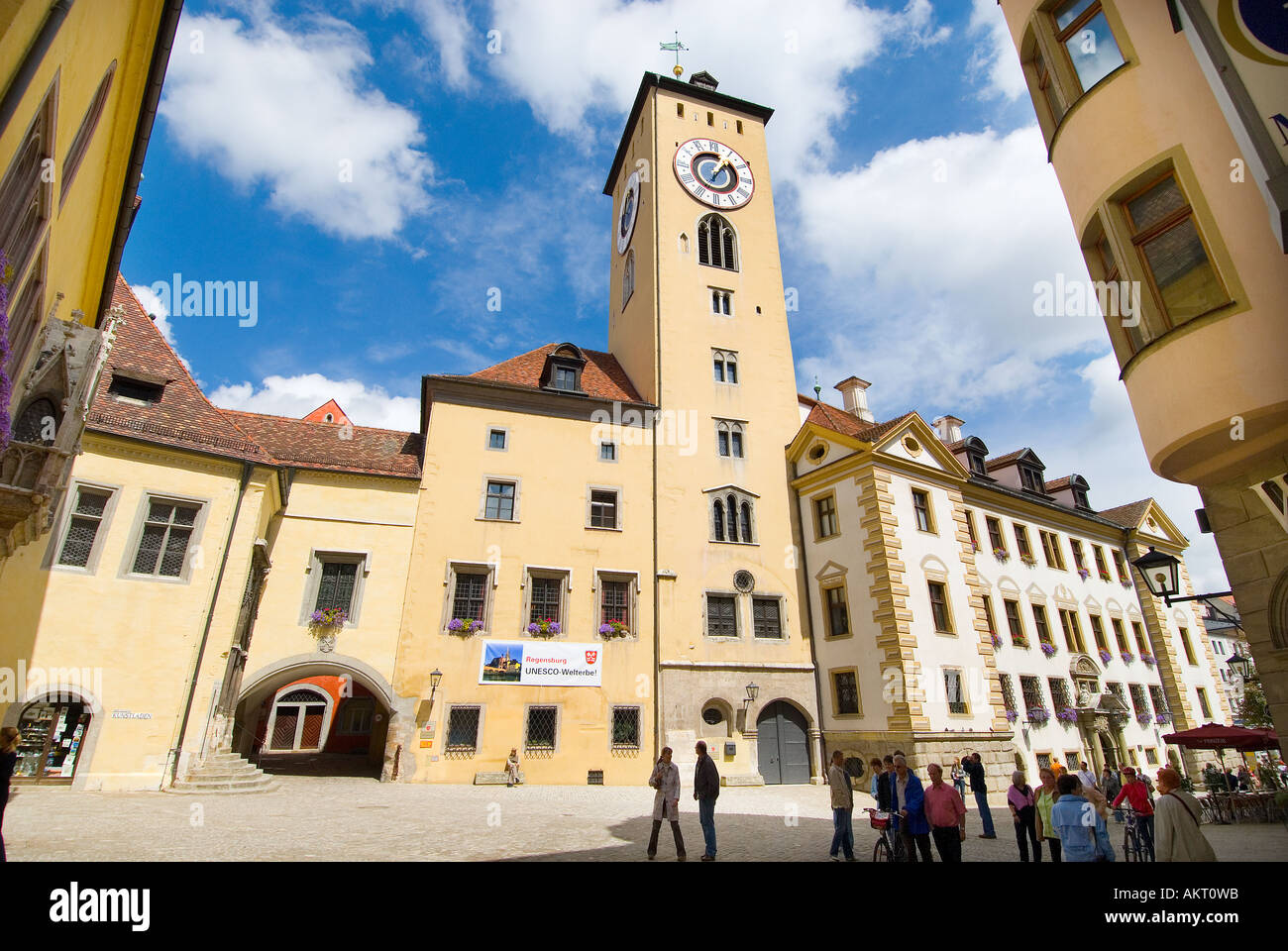 rathausplatz town hall townhall city hall guildhall place regensburg stock photo royalty free. Black Bedroom Furniture Sets. Home Design Ideas