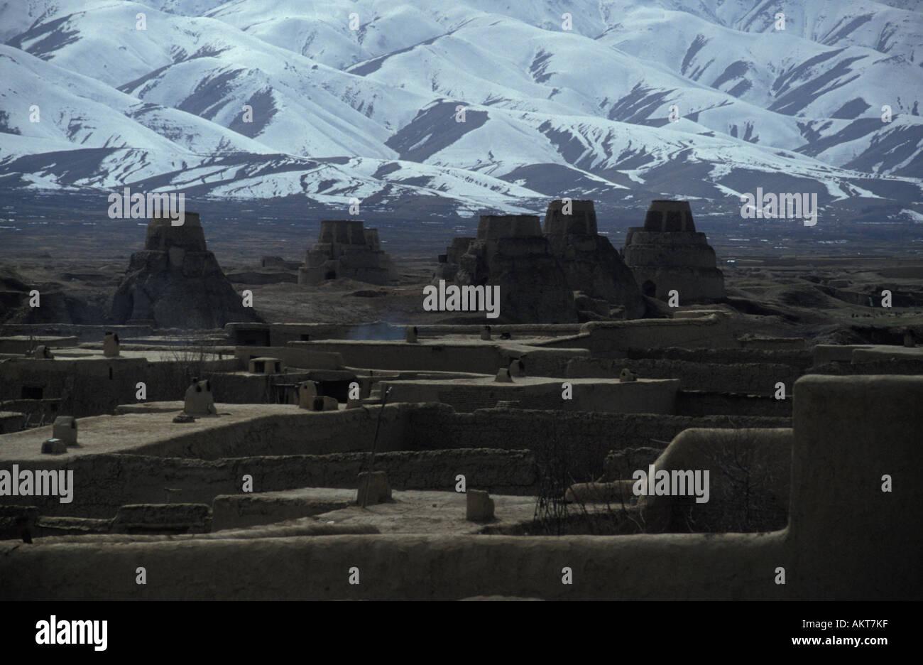 adobe homes u0026 brick kilns kabul afghanistan stock photo royalty