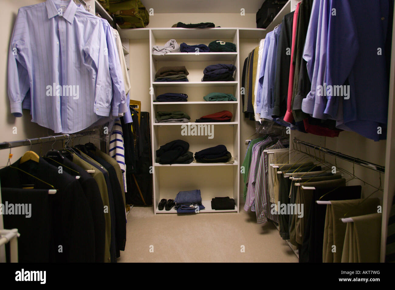 Man S Walk In Closet