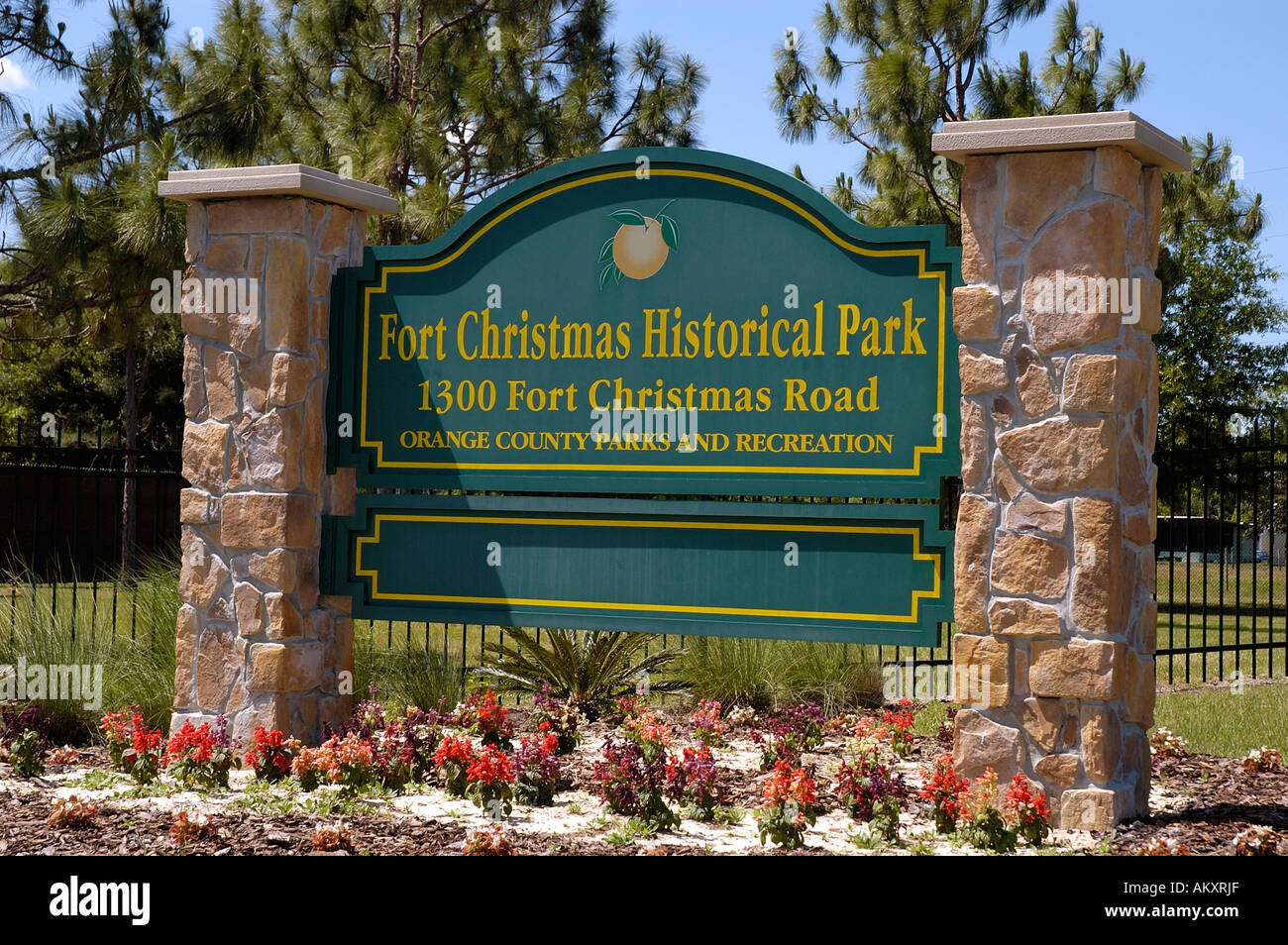 Orlando Florida Fort Christmas sign at Fort Christmas Historical ...